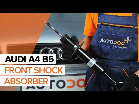 DIY How to replace front shock absorbers on AUDI A4 B5 | AUTODOC