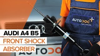 How to change Shock Absorber on AUDI A4 (8D2, B5) - online free video