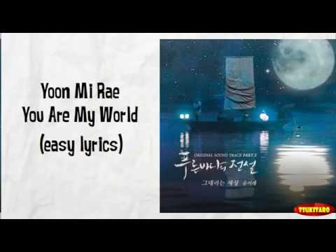 Yoon Mi Rae - You Are My World Lyrics (easy lyrics)