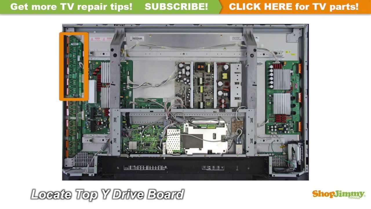 Lg 6871qdh088a Ydrvtp Boards Replacement Guide For Plasma Tv Repair Youtube