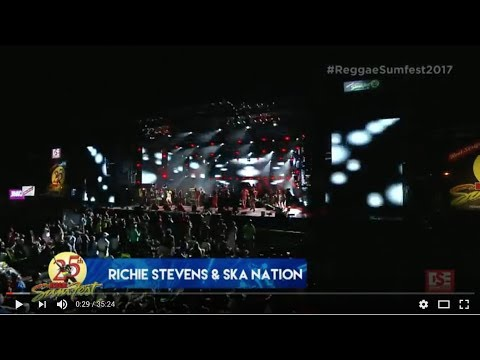 LIVE - Richie Stephens and The Ska Nation Band at Reggae Sumfest 2017 in Montegobay Jamaica