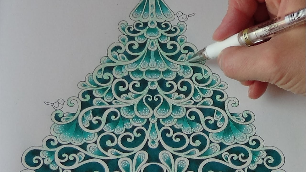 How I color a christmas tree Tutorial 1 Prismacolor Johanna´s ...