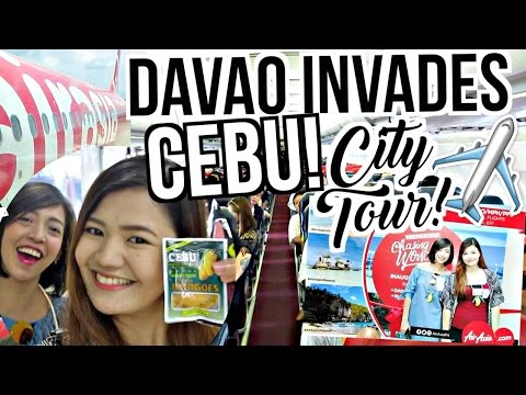 DAVAO INVADES CEBU!!! Cebu City Tour ♡ AIRASIA | makeupbykarlamisa Vlogs
