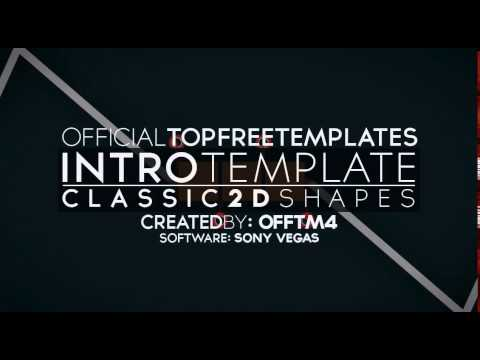FREE SONY VEGAS Intro Template  Classic 2D Shapes