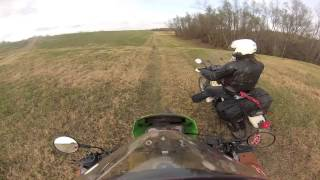 Motorcycle crash on the levee in Henderson, Louisiana