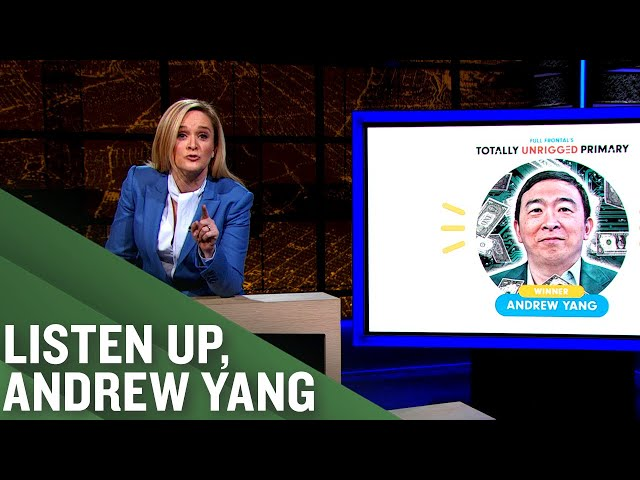 We Gave Andrew Yang $50K. Here's What Happened Next.   Full Frontal on TBS