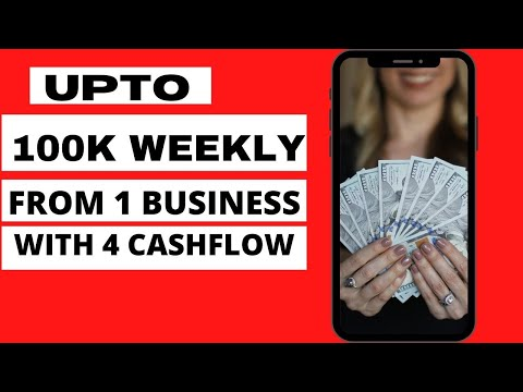 WITH 30K CAPITAL MAKE UPTO 100K WEEKLY WITH ONE BUSINESS HAVING OVER 4 CASHFLOW INCOME SOURCE