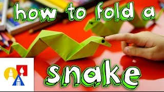 How To Fold An Origami Snake