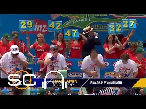 2018 Nathan's Hot Dog Eating Contest vs. Preview With Adam Amin & Scott Van Pelt vs. ESPN