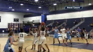 Lancers Girls Basketball vs Dracut - January 2016