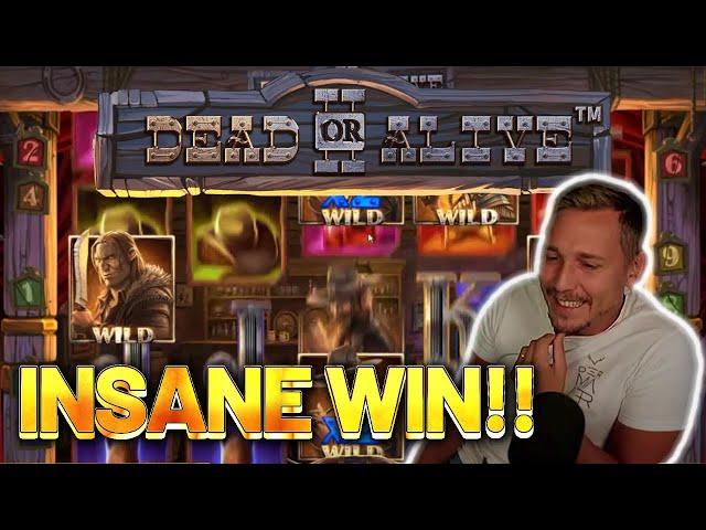 INSANE WIN! DEAD OR ALIVE 2 BIG WIN -  Casino Slots from Casinodaddy LIVE STREAM