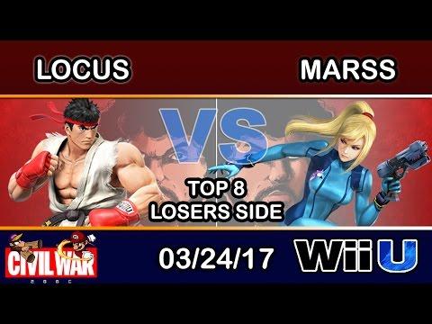 2GGC: Civil War - UBCEA | Locus (Ryu) Vs. DNL | Marss (Zero Suit Samus) Top 8 Losers Side