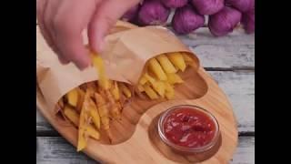 Рецепт домашнего картофеля фри | Жареный и печеный картофель фри