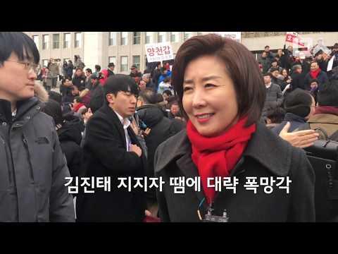 나경원 투쟁 방식 저격한 김진태. 자유한국당의 국회 코미디 한마당