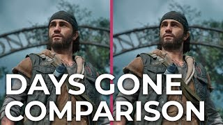 Days Gone – PS4 vs. PS4 Pro Graphics Comparison Frame Rate Test