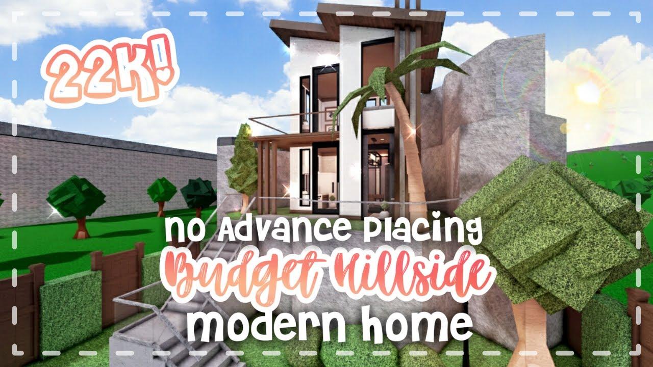 No Advanced Placing Budget Hillside Modern Home 22k!  Speedbuild and Tour - iTapixca Builds