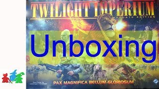 Twilight Imperium 4th edition Unboxing