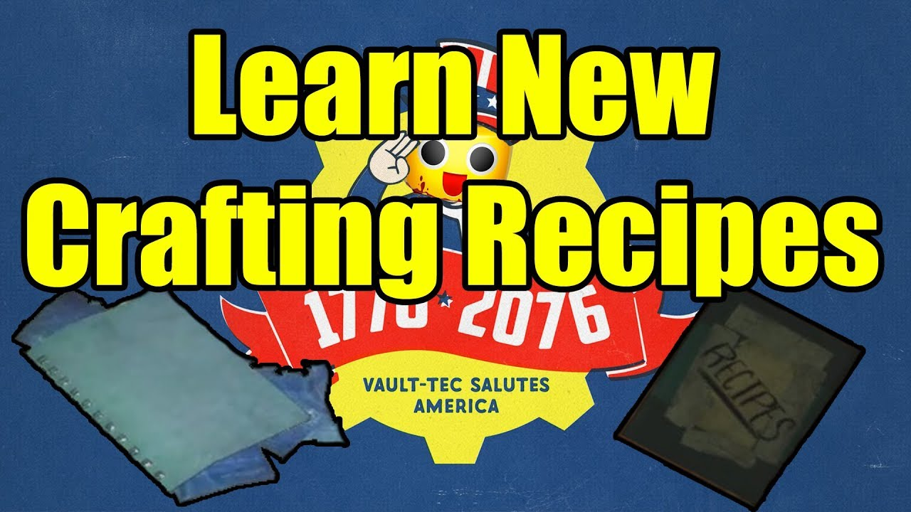 Fallout 76 Learn New Crafting Recipes How To Unlock New Armor And