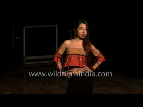 Women and men model at Naga fashion show : Zeliangrong Students' Union Delhi