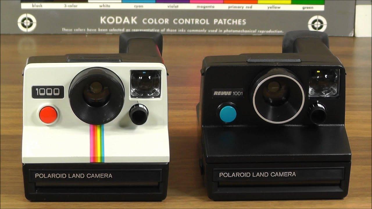 polaroid land camera 1000 red button vs revue 1001 blue button sx 70 film youtube. Black Bedroom Furniture Sets. Home Design Ideas