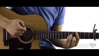 Red Dirt Road - Guitar Lesson and Tutorial - Brooks and Dunn