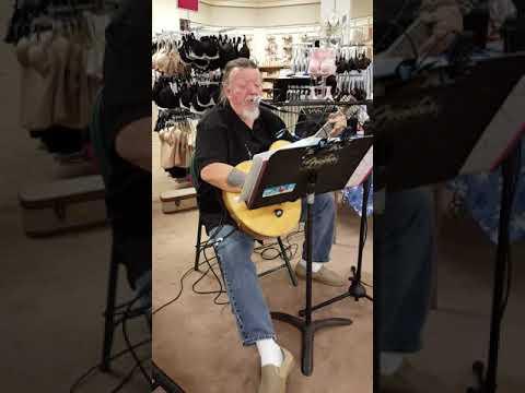 Wimpy sings walking round in women's underwear at Dillard's