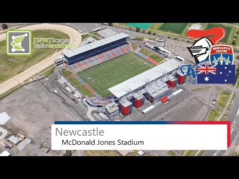 McDonald Jones Stadium | Newcastle Knights & Newcastle Jets FC | Google Earth | 2016