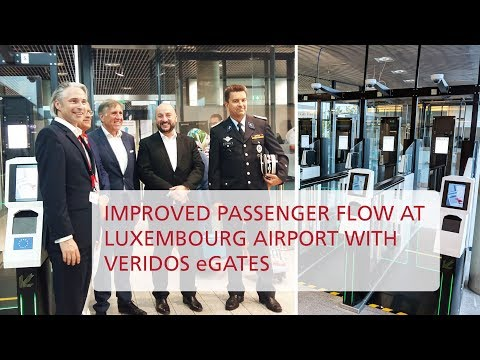 Veridos eGates at Luxembourg Airport