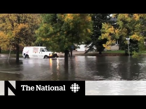 Severe Weather, Flash Flooding Hits Southern Manitoba