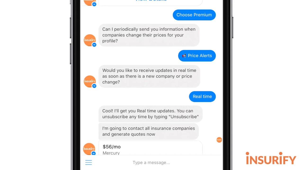 Insurify for Facebook Messenger