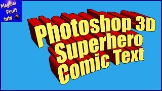 Photoshop 3d Superhero Comic Text