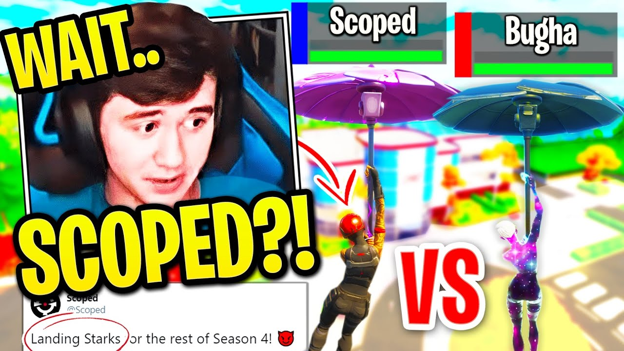 BUGHA *PANICS* after Scoped STEALS his LANDING SPOT & DOES THIS! (Fortnite)