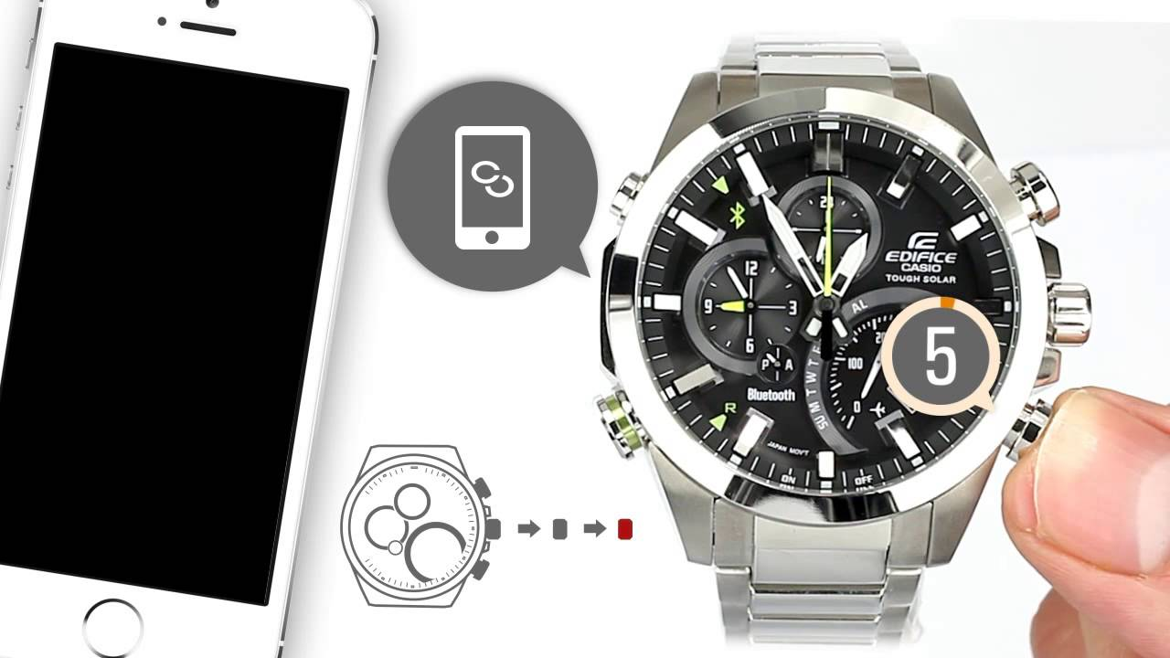 how to reset casio edifice watch
