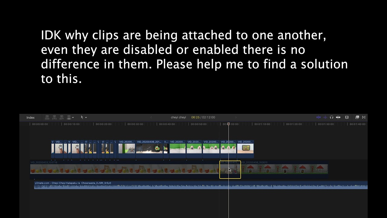 Clips ( videos ) problem in FCP