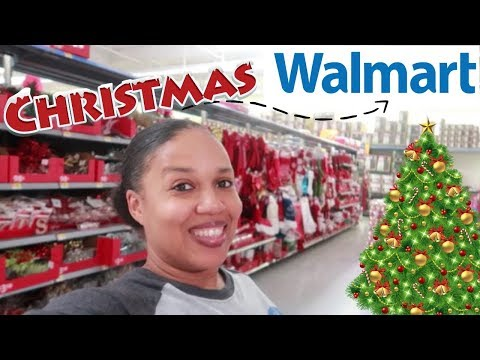 WALMART CHRISTMAS 2018/ SHOP WITH ME.. CHRISTMAS DECOR