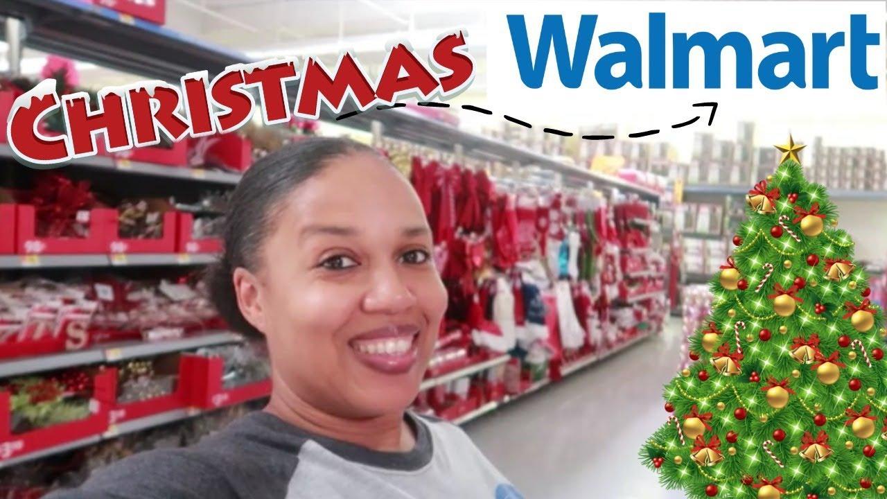 walmart christmas 2018 shop with me christmas decor