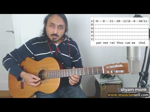 How to En Iniya Pon Nilaave TABs | Ilayaraja Song on Guitar + Chord Melody