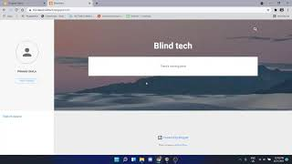 how to create blog or website for visually impaired people
