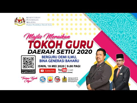 Majlis Meraikan Tokoh Guru Daerah Setiu 2020 Youtube