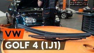 aizmugurē un priekšā Stikla tīrītāja slotiņa uzstādīšana VW GOLF IV (1J1): bezmaksas video