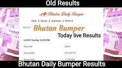 Bhutan Daily Bumper Results & Bhutan Bumper Results Today Live & old Results