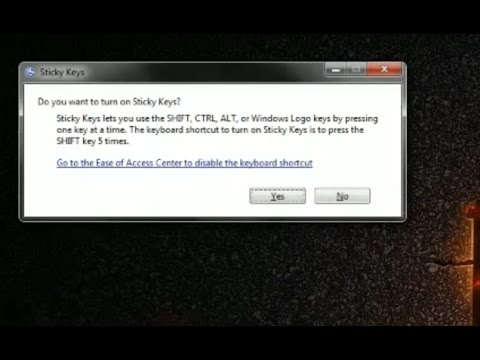 how to TURN OFF ANNOYING STICKY KEYS POP UP! (turn on SUBTITLES)