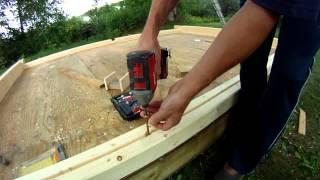 Building an Outdoor Square Timber Sauna