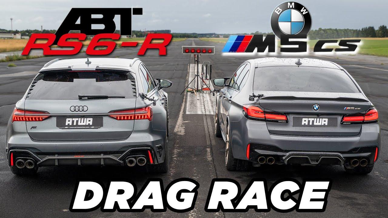 ABT RS6-R vs. BMW M5 CS   DRAG RACE   Daniel Abt