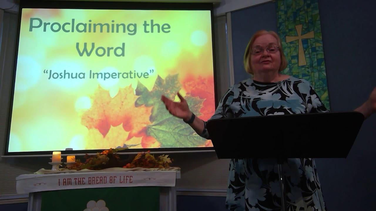 """November 08, 2020 ~ Rev. Julia Price ~ """"Joshua Imperative"""""""