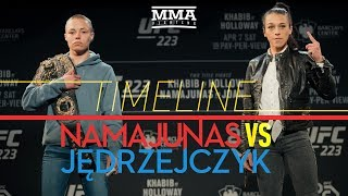 UFC 223: Rose Namajunas vs. Joanna Jedrzejczyk 2 Timeline - MMA Fighting