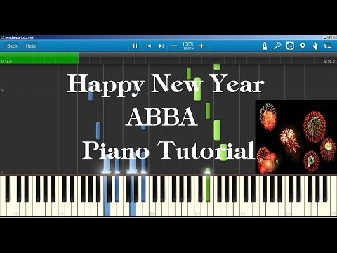 Happy New Year ABBA Piano Tutorial How to play on Piano