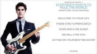 Glee Season 4 Episode 3 Everybody Wants To Rule The World Darren Cr...