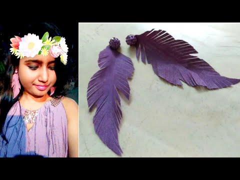 DIY : feather earrings / how to make feather earrings