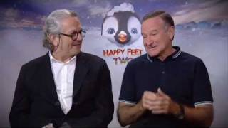 Quickflix - Robin Williams and George Miller from Happy Feet Two